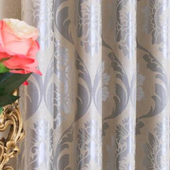 カードラカーターテン寝室リングン掃き出し窓精致刺繡遮光既制カーターテレンレンレンステムテン(银灰布)オーダシリーズ2.6メートル幅x 2.7メートル高さ1枚を短くします。