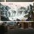 のれん画のレインレインレイン遮光水墨画開運山水リング玄関風水昇降断熱カーターテリング装飾画乳白色画像1