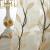 ノロ家具韓式紗カーターテン刺繡田園風小森系レストラン寝室掃き出し窓窓外光透光レ-スカーン青緑黄三色オプション黄葉紗フック幅1.5高2.7片