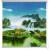 欧雅派のれんカーン简易完全遮光キラーサンサンバイザー防水山水画布カーンテーピング寝室ベレスト山水情绪2メートル幅既存カーン一幅(2メートル高)