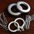 カールテ部品カーンリングリングリングリングフックカーン四叉フックカーントラックカーントラックのテールテンローマロッドリール単棒ダブルリングは10個ずつあります。