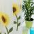 金蝉カーターテン糸のテーンの寝室リビンベレーンのテーン田园刺布カーターテンのヒマワリ纱打穴加工幅2.5メートル*高さ2.7メートル