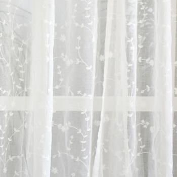 レイナスカク逸品カーターテン白纱カーターテンベルンサンサンカーターテン木の枝纱の白いフックオーダカーターテン毎米