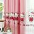 ハローキティちゃんのピンクの寝室の天然素材生地既制カーターダイカーターテーンKT猫布テーンフック-1.5幅x 2.5高-単片装
