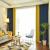 柏拉图既製カーテンつぎ合わせ天然素材シンプル北欧风格カーテンリビング寝室亚麻遮光カーテンシンプルモダン 两色つぎ合わせ 藏蓝+黄色 宽4.0米*高2.7米(打孔款式)