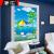 唐匯オーダダカーン完全遮光パターンのれん画彩色絵手拉式パンチは昇降しないでください。テレバスバームテレビの日よけ家庭用防水キーン相愛完全遮光(打孔装着)幅1.2メートル×高さ2メートル